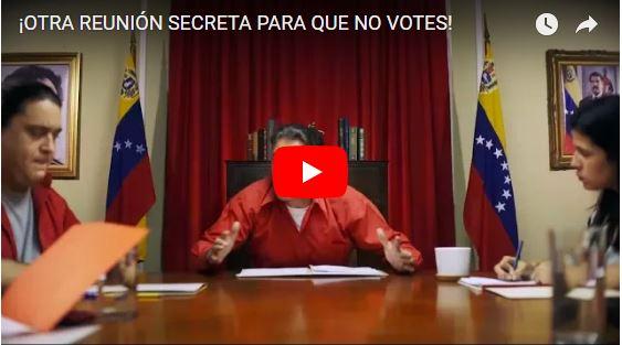 """Le """"Reunión Secreta"""" que la MUD usa en su campaña política"""