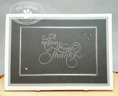 Handmade thank you card: A million and one thanks van Stampin' Up