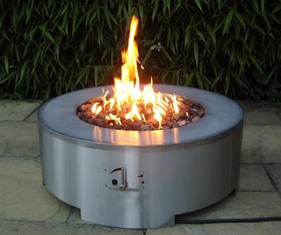Foyer à gaz en acier inoxydable, le Brightstar Acturus