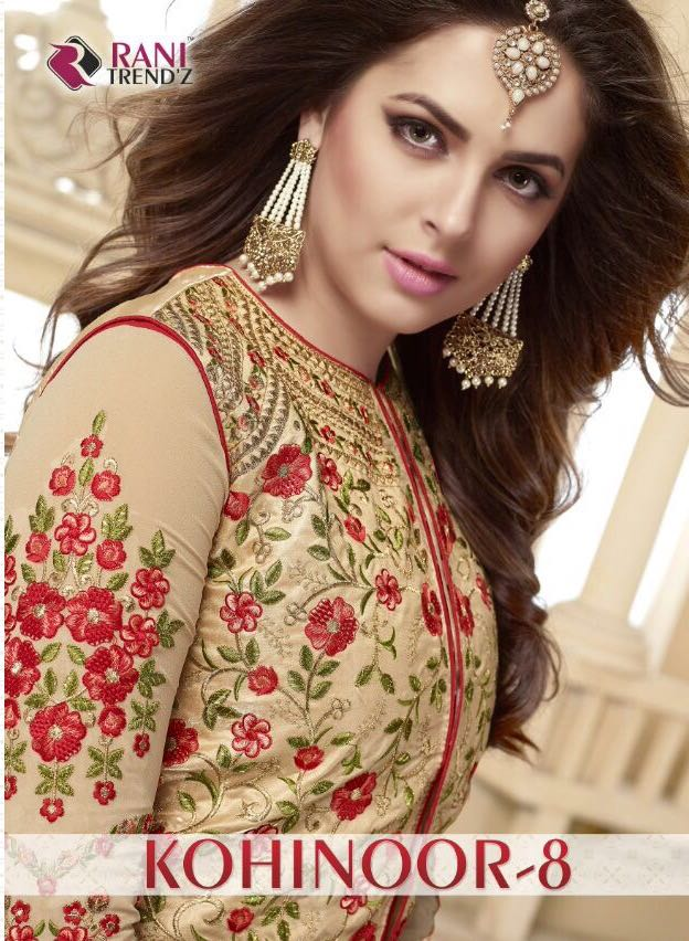 KOHINOOR 8-Heavy Designer Semi Stitched Foax Georgette Salwar Suit