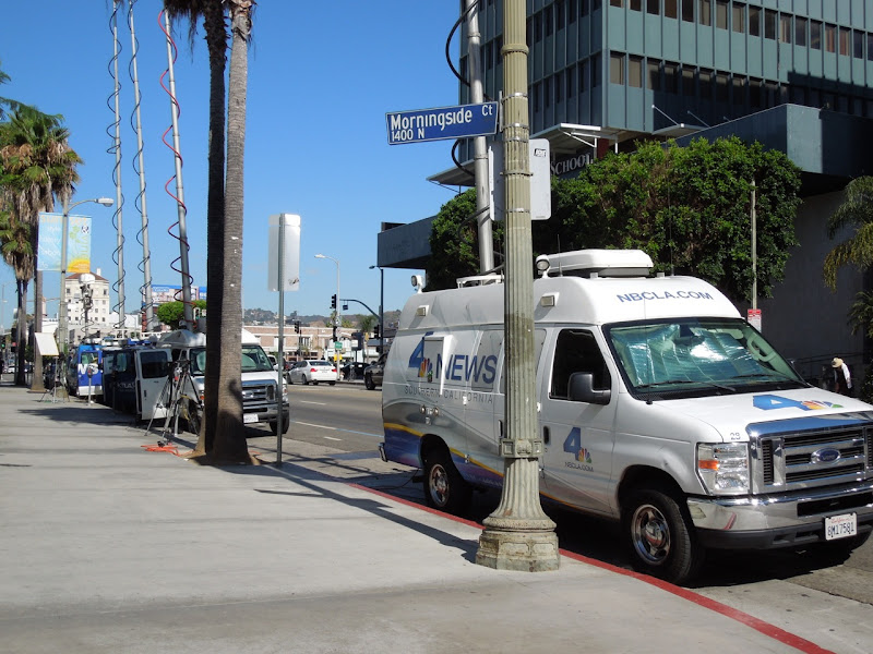 News vans Hollywood