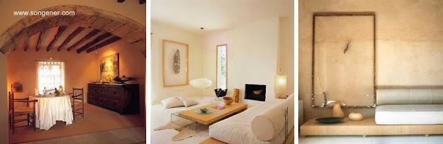 Tres ambientes interiores del hotel en Mallorca