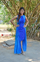 Tamil Actress Sanchita Shetty Latest Pos in Blue Dress at Yenda Thalaiyila Yenna Vekkala Audio Launch  0025.jpg