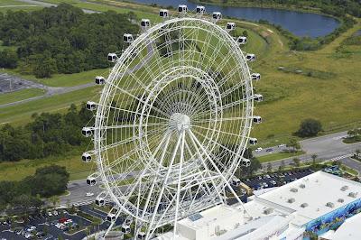 Orlando Eye vista durante voo de helicóptero