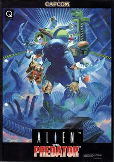 Alien vs Predator arcade game portable flyer