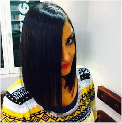 Long Bob Cut For Thick Black Hair