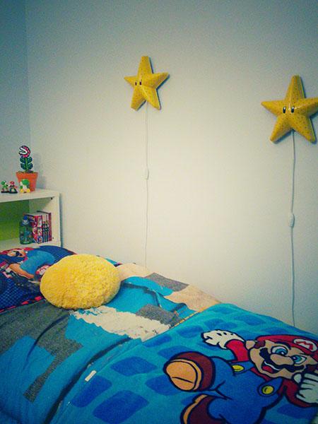 ikea hack how to transform a smila stj rna wall lamp into a super mario bros star nelidesign. Black Bedroom Furniture Sets. Home Design Ideas