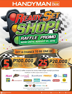 Handyman Ready, Set, SHOP raffle promo