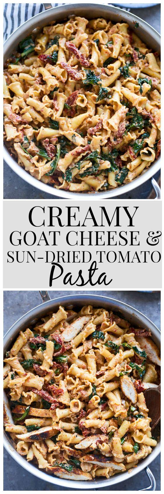 Creamy Goat Cheese and Sun-Dried Tomato Pasta