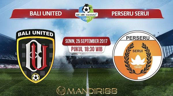 Bali United FC akan menjamu tim papan bawah Berita Terhangat Prediksi Bola : Bali United Vs Perseru Serui , Senin 25 September 2017 Pukul 18.30 WIB