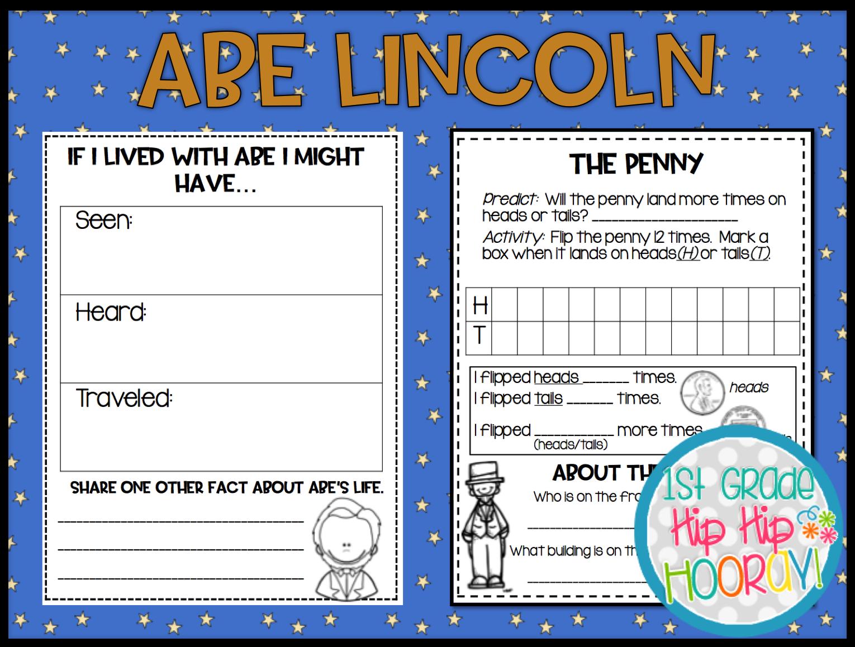 1st Grade Hip Hip Hooray Abraham Lincoln Lesson Craft