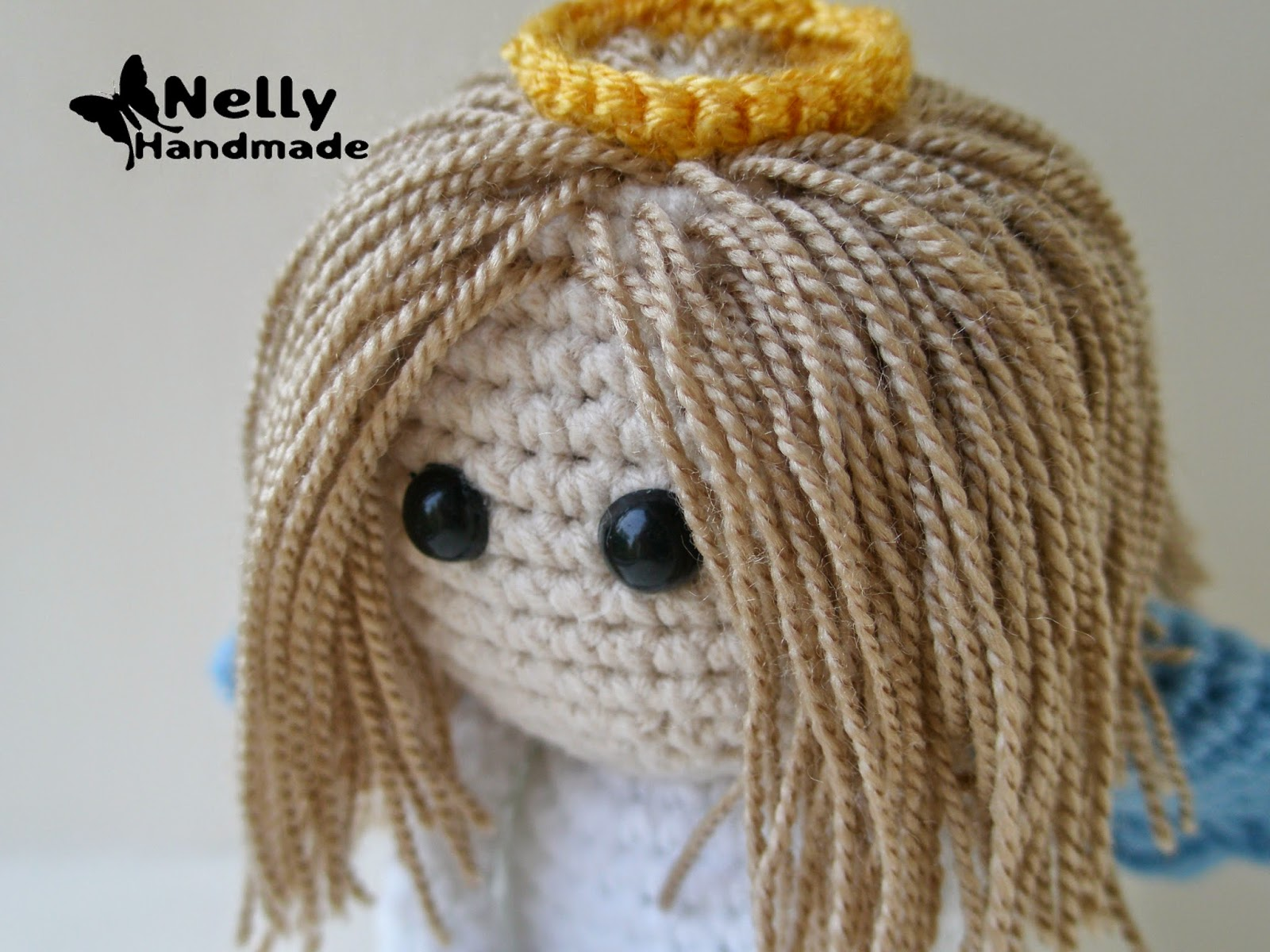 Nelly Handmade мк волосы для вязаной куклы