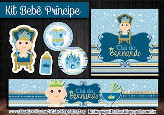 Kit CHá de Bebê príncipe