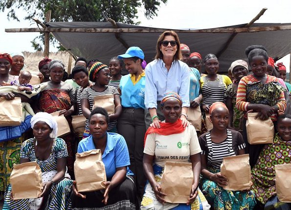 Princess Caroline of Hannover visited Congo in order to visit programs supported by Amade Mondiale and to start Respect to the Women program