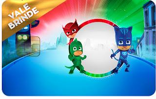 Tarjeta con forma de Visa de Super Héroes en Pijamas.