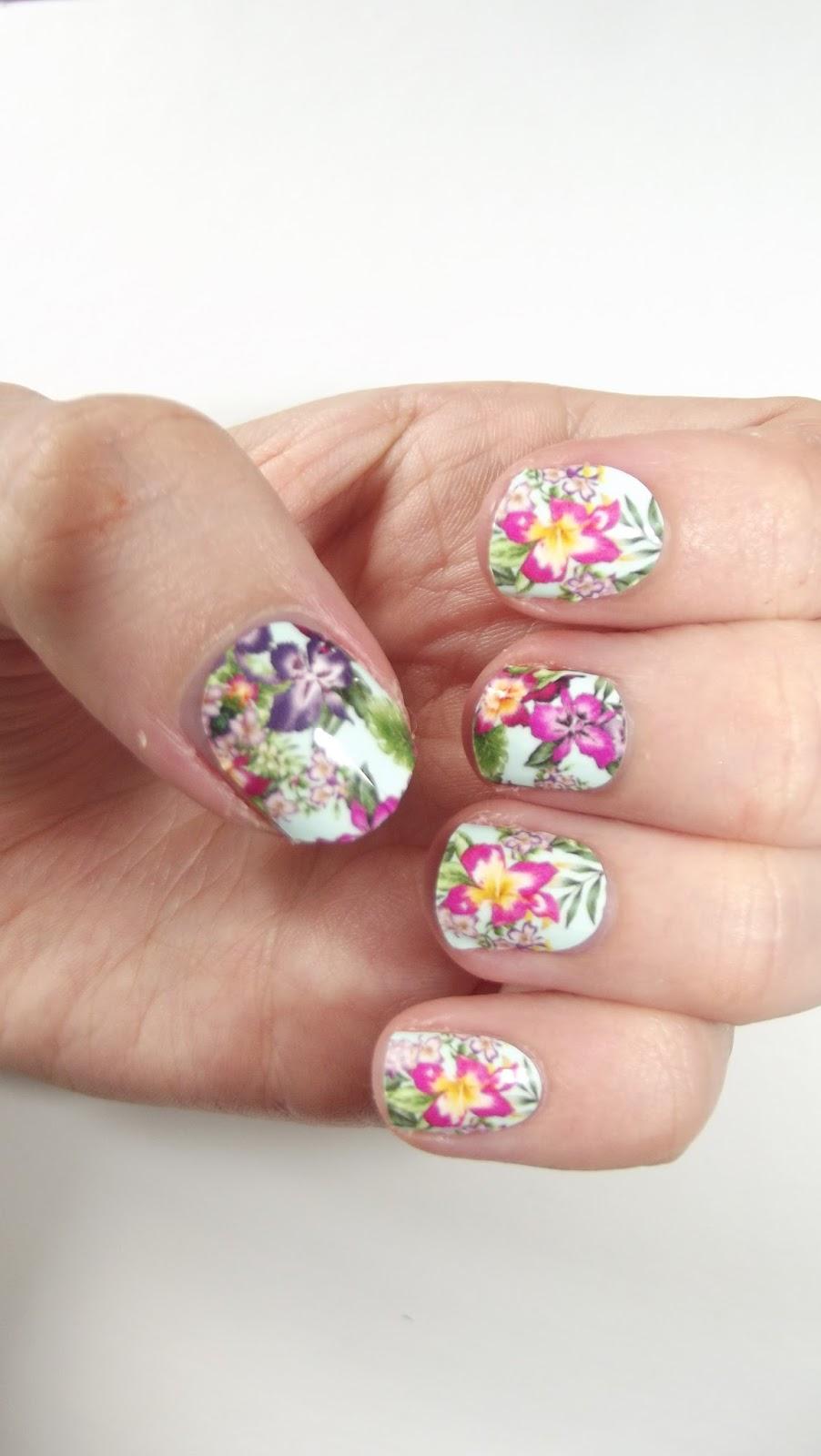 ASOS Exclusive Nails Rock Wakiki Hawaiian Flowers Nail