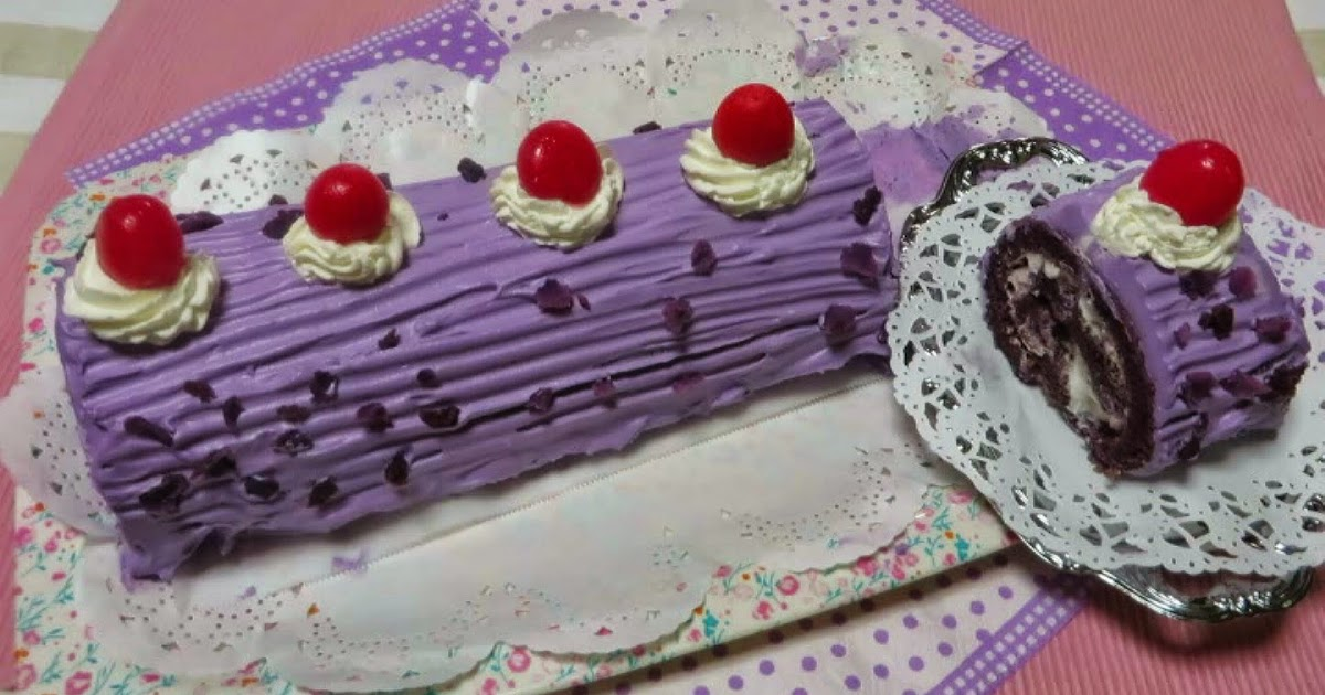 ube cake roll quot nette cooking quot quot ube roll cake quot 8151
