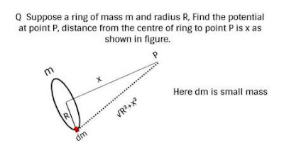 gravitational potential,potential question
