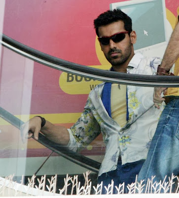 John Abraham on the sets of 'Welcome Back'