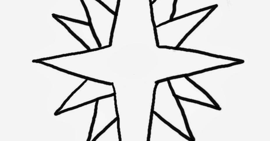 Imagens De Estrelas Natalinas Para Colorir