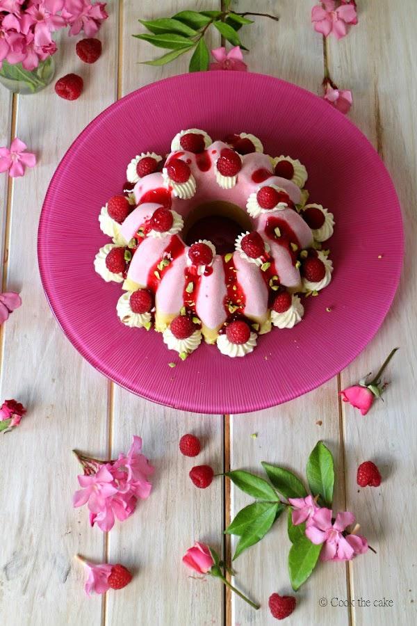 mousse-de-frambuesas, pistachos, vainilla, rasberry-tart