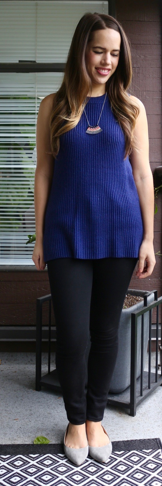 Jules in Flats - J.Crew Sleeveless Tunic Sweater