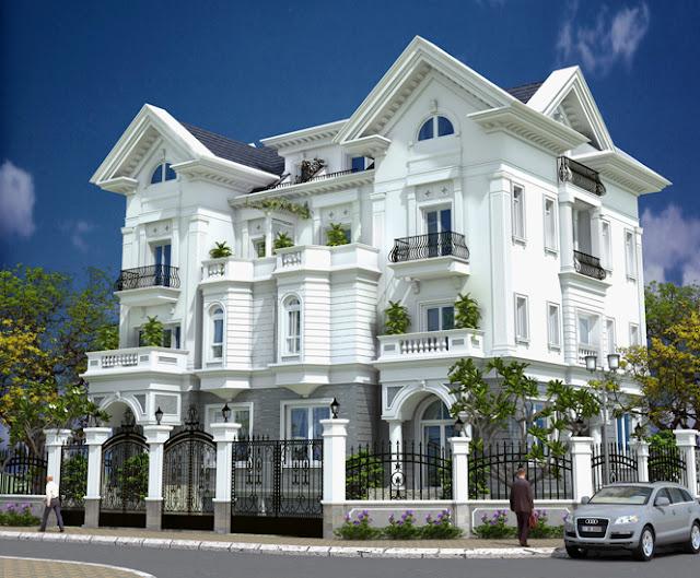gach bong-BT1210715 Thiết kế biệt thự cổ điển - Phong cách và xu hướng hiện nay
