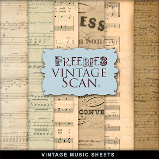 Freebies Vintage Music Sheets Kit