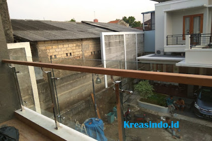 Railing Balkon Kaca pesanan Bpk Herdi di Cilodong Depok