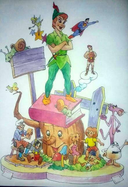 Boceto de Falla Infantil