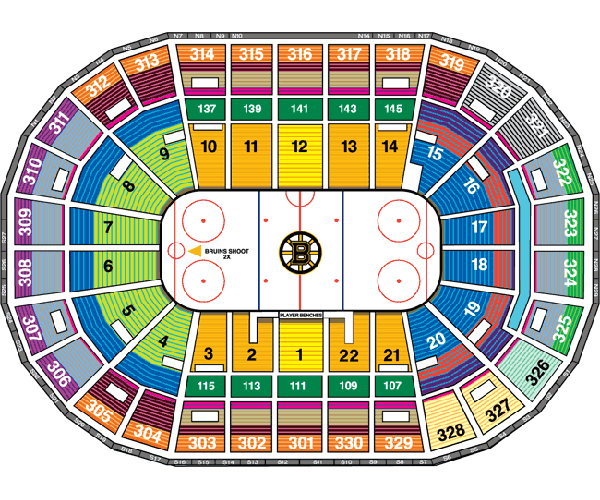 Td garden bruins seating for Td garden seating chart with seat numbers