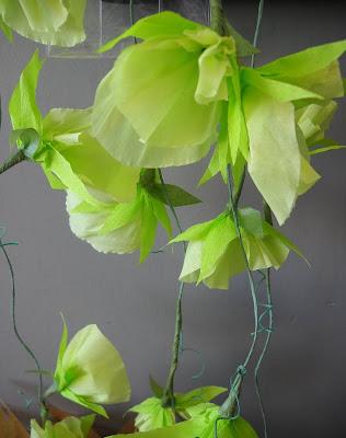 crepe paper sweet peas