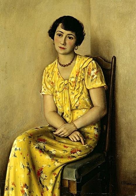 François-Emile Barraud Молодая женщина в желтом