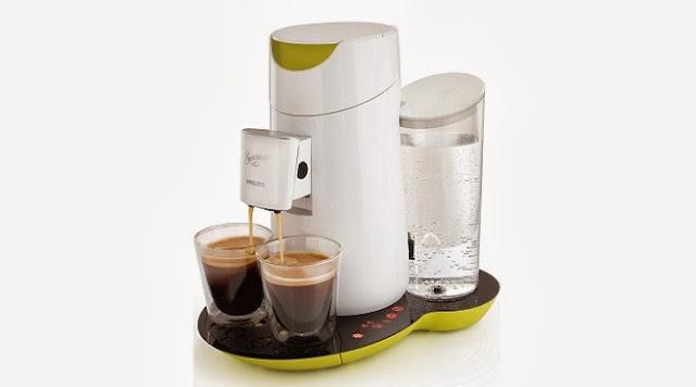 Cafetera Philips Senseo Twist, color blanco y verde lima