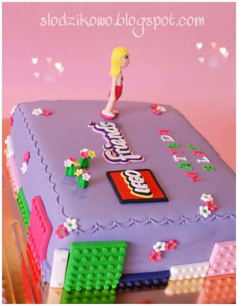 Słodzikowo Tort Lego Friends