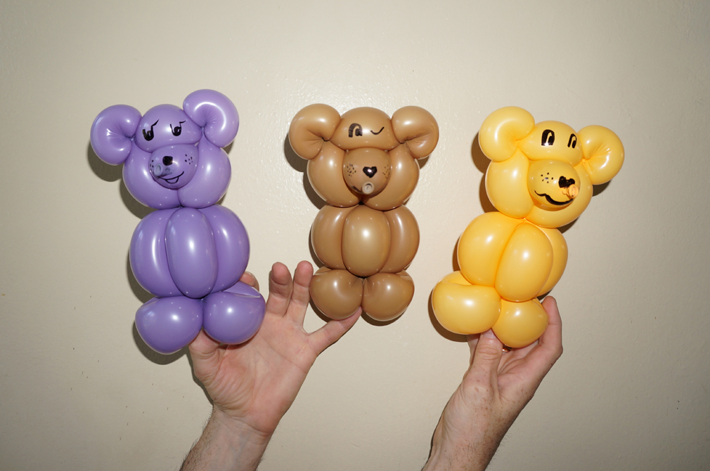 Brand-new Balloon animals twisting instructions: How to make teddy bear from  PB76