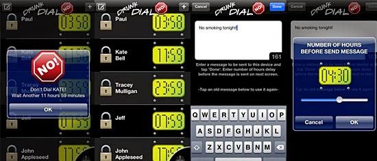 Aplicativos de bêbados - Drunk dial NO