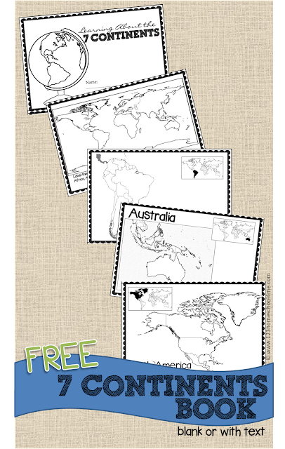 graphic about Printable Continents named Absolutely free Continents Guide for Young children 123 Homeschool 4 Me