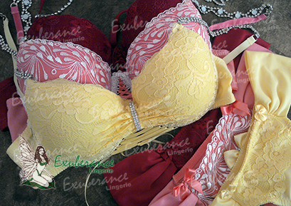 Lingerie Amarela, Coral e Rubi