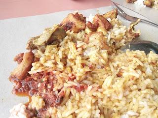 Nasi Belauk Kak Wok Kampung Sireh