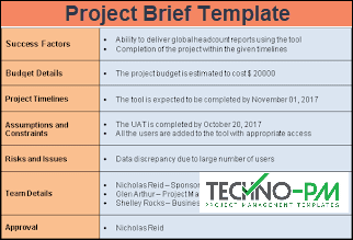 Project Brief Template, Project Brief Template Word