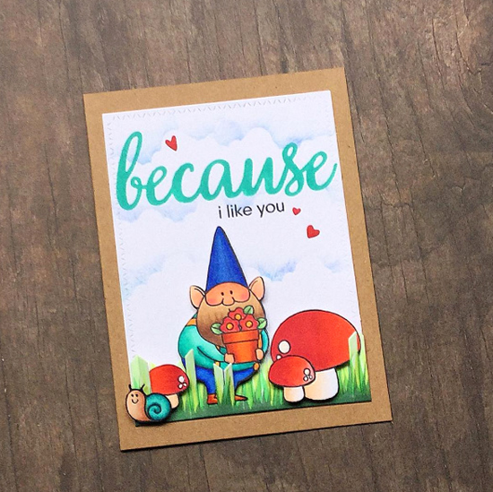 Because You  and Birdie Brown You Gnome Me stamp sets - Tina #mftstamps