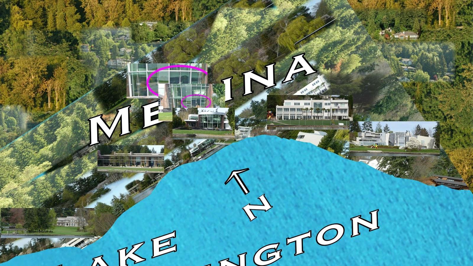 Medina Washington Map.Lake Washington Cruising Medina South Mansions