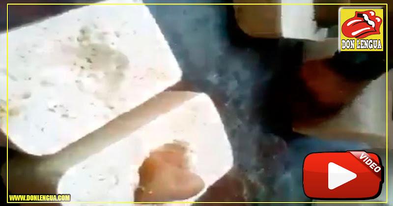 Solo en Venezuela : Venden quesos con piedras adentro para darle más peso