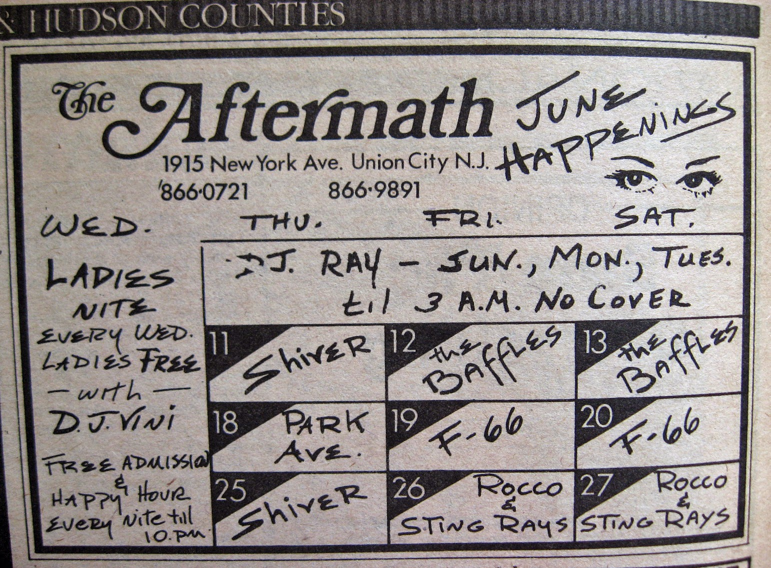 The Aftermath band line up 1981