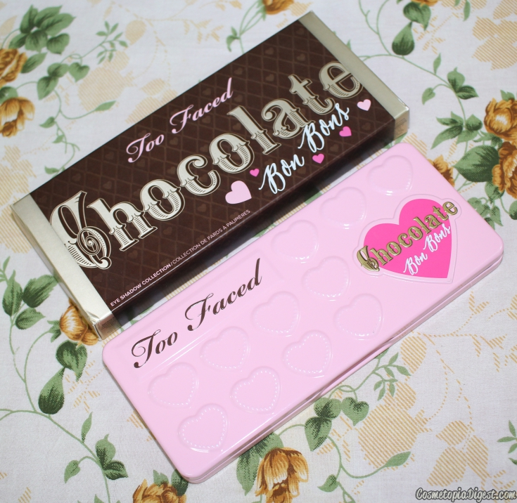 Review and swatches of the Too Faced Chocolate Bon Bons Eyeshadow Palette and comparisons with the Semi-Sweet and original Chocolate Bar palettes.