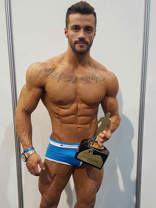 Gaston Zuniga, Campeão do Arnold Model Search 2017. Foto: Arquivo Pessoal