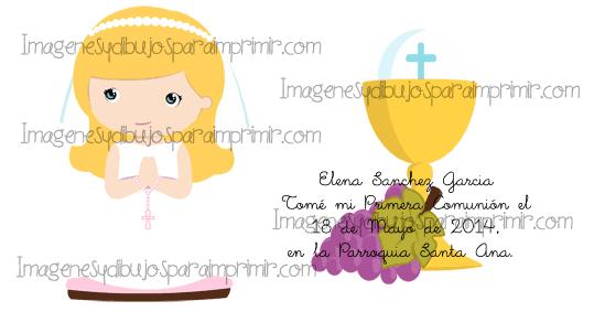 Dibujos De Comunion Para Imprimir Y Colorear: Dibujo Coloreado Nina De Comunion