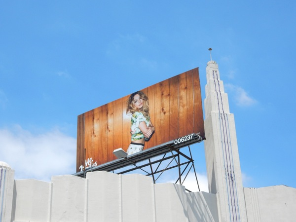 MeUndies female underwear model billboard