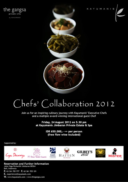 Kayumanis Chefs' Collaboration 2012